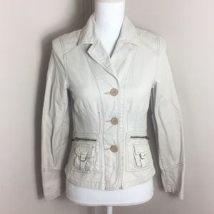 Old Navy Jean Jacket Coat Button Down Zip Pockets